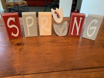 """Spring"" Wood Blocks Decor in Kingwood, Texas"