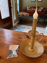 Vintage candle lamp with extra bulb in Kingwood, Texas