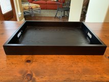 Black wood serving tray in Kingwood, Texas