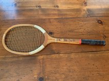 Vintage wooden tennis racquet in Kingwood, Texas