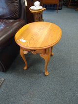 2 Oval Oak End Tables in Chicago, Illinois