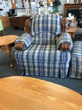 Plaid Chair with Ottoman in Bartlett, Illinois