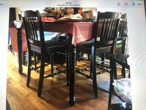 Dining room Table with 6 chairs and a divider. in Honolulu, Hawaii