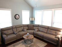 Leather Reclining Sectional with Console in Lackland AFB, Texas
