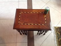 Set of inlaid nesting tables in Okinawa, Japan