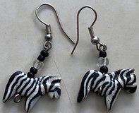 Zebra Earrings in Okinawa, Japan