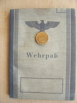 World War II GE Wehrpass in Wiesbaden, GE