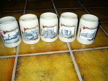 5 beermugs vintage from 1989  to 1993 in Ramstein, Germany