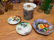 Vintage plates and canister in Alamogordo, New Mexico