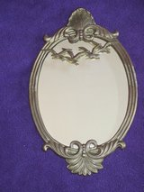 Brass Oval Framed Mirror in Glendale Heights, Illinois