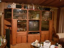 5 Pc. Solid Oak lighted entertainment wall unit with 2 corners in Chicago, Illinois