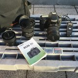 Canon EOS 7D + 3 Lenses and Accessories in Stuttgart, GE