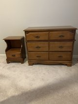 Kids/ toddler, small dresser, nightstand, and mirror in Yorkville, Illinois