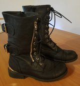 Nature Breeze Women's Black Boots - Buckle/ Lace Up - Mid Calf Size 8 in Ramstein, Germany