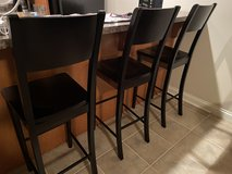 Black Wooden Bar Stools in Chicago, Illinois