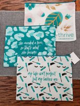 "NEW Set of 3 ""Thrive Causemetics""  cosmetic bags in Naperville, Illinois"