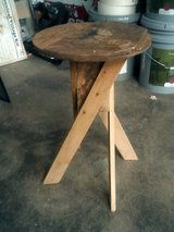 Wood plant stand in Alamogordo, New Mexico