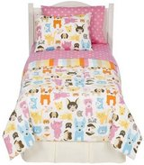 Bow Wow Meow Kitty Cat & Puppy Dog Twin Reversible Comforter & Sheet Set Circo in Houston, Texas