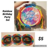 Rainbow Birthday Party Supplies Set in Columbus, Georgia