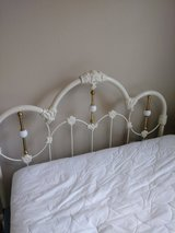 Solid Brass bed frame head and foot post  / mattress/ box springs used as displays in Houston, Texas