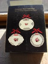 VICTORIAN ROSE 3 SET PIERCED PLATE COLLECTION in Yorkville, Illinois