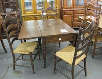 Antique Walnut Drop Leaf Table in Westmont, Illinois