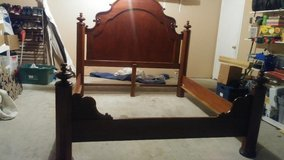 real wood mahogany king bedroom set. in The Woodlands, Texas