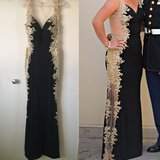 Black Formal Dress/Gown With Gold Detail in Okinawa, Japan