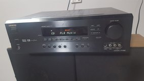 Onkyo Receiver HT-R500 with Pair Of Sharp Speakers. in Yorkville, Illinois