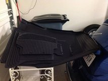 BMW 5 Series Sedan Rubber Floor mats and rear seat protector in Houston, Texas