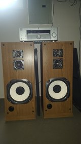 Sony Receiver and big pair of Realistic Speakers. in Yorkville, Illinois