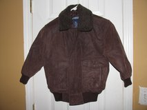 Boy Genuine Leather Bomber Jacket New size Small in Byron, Georgia