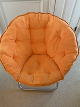 Kids Orange Papasan Chair in Joliet, Illinois