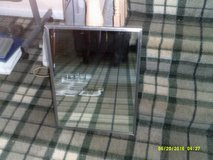 """A 18"""" x 24"""" stainless frame commercial mirrow  ( new ) with mounting bracket in Naperville, Illinois"""
