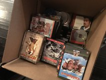 DVDs  & Many different Music CDs. Box of many in Houston, Texas
