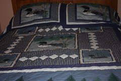 Queen sized Bedspread with two Pillow Shams - Cabin Style Ducks & Trees in Alamogordo, New Mexico