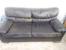 leather couch in Aurora, Illinois