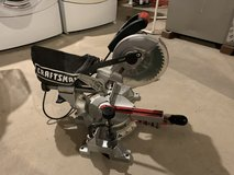 CRAFTSMAN 7 1/4 sliding compound miter saw with lasertrac. in Algonquin, Illinois