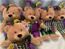 6 New ADORABLE MARDI GRAS TEDDY BEARS in Leesville, Louisiana
