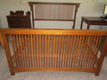 Mission style queen size bed frame in Glendale Heights, Illinois