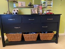 PBK navy blue 5 drawer dresser in Shorewood, Illinois