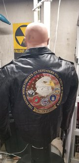 motorcycle jacket black leather in Glendale Heights, Illinois