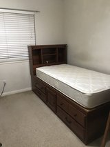 Captain twin bed with 4 drawer &1 cabinet With mattress in Houston, Texas