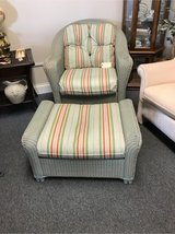 Lloyd Loom Wicker Chair and Ottoman in St. Charles, Illinois