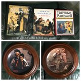 Normal Rockwell Framed Plates - 18 pieces plus 3 coffee table books in Aurora, Illinois
