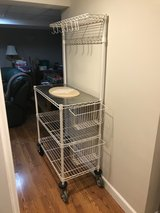 Kitchen Utility cart with wheels and accessories in Naperville, Illinois