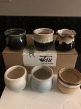 "New Box of 6 Ceramic Flower or Succulent Planters 2-1/2"" high in Bolingbrook, Illinois"