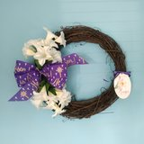 """22"""" x 20"""" Grapevine Easter Wreath with a Christian Theme in Camp Lejeune, North Carolina"""