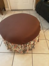 round ottoman good shape has storage in side in Kingwood, Texas