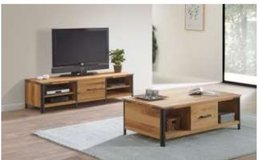 United Furniture - Hamburg TV Stand (65in wide) + Coffee Table + Delivery in Grafenwoehr, GE